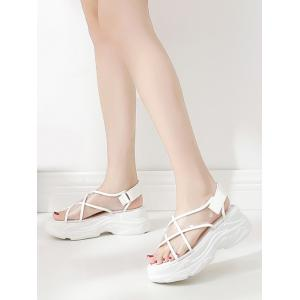 Casual Crisscross Transparent PVC Strap Platform Sandals -