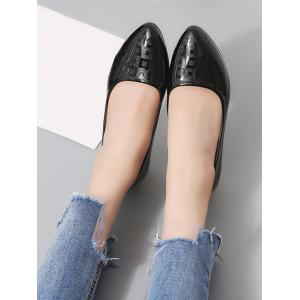 Chic Pointed Toe Block Heel Daily Walking Pumps -