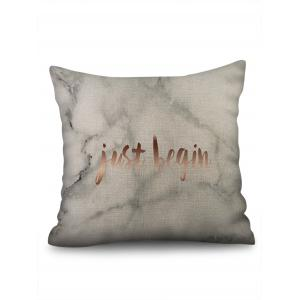 Marble Grain and Letters Print Pillowcase -