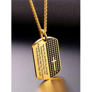 Unique Letter Sentence Carving Pendant Necklace -