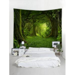 Forest Pattern Wall Tapestry Hanging Decor -