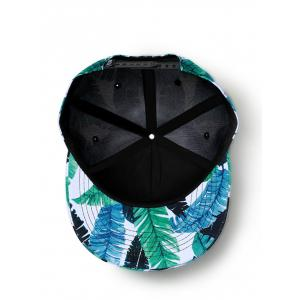 Leaves Printed Adjustable Trucker Hat -