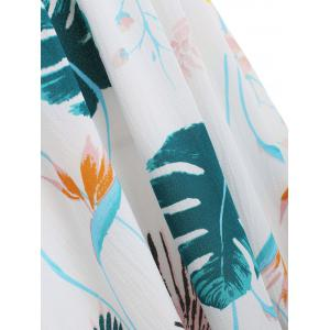 Shirred Waist Tropical Print Dress -
