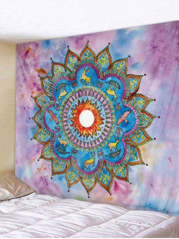 Outfits Bohemian Flower Deer Pattern Wall Tapestry