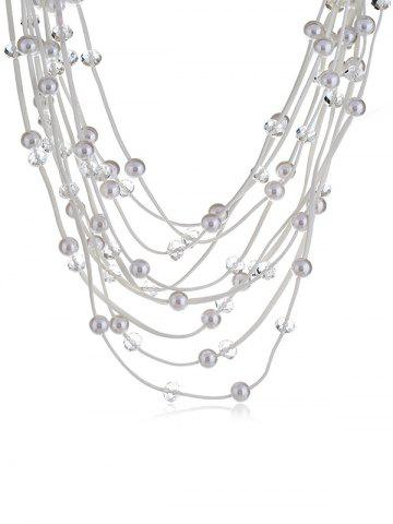 Hot Artificial Pearls Rhinestone Decoration Multilayer Necklace