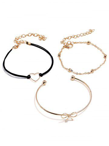Best Heart Bowknot Designed Bracelets Set