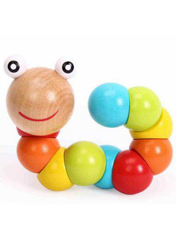 Shops Flexible Wooden Twisting Worm Toy