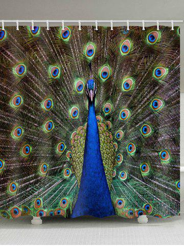 Latest Peacock Print Waterproof Bathroom Shower Curtain