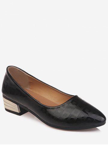 New Chic Pointed Toe Block Heel Daily Walking Pumps