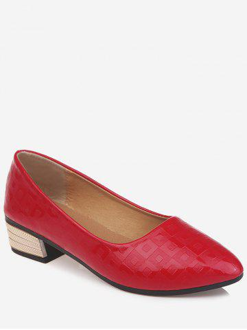 Discount Chic Pointed Toe Block Heel Daily Walking Pumps