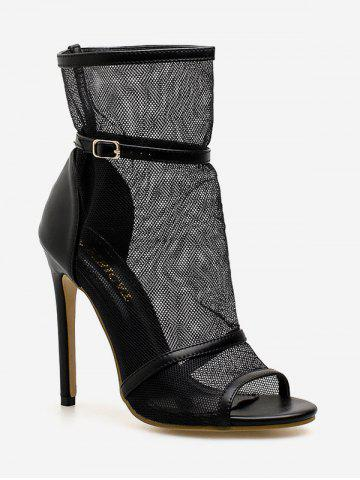 Chic Leisure Stiletto Heel Peep Toe Daily Ankle Bootie Sanals