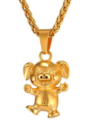 Online Little Pig Alloy Pendant Chain Necklace