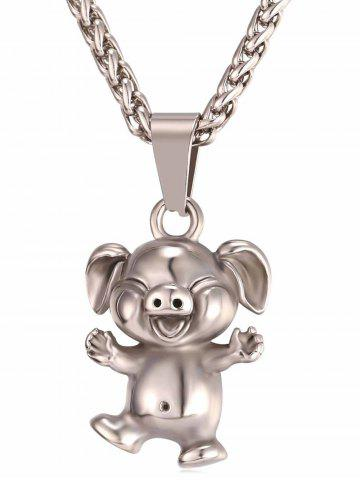Affordable Little Pig Alloy Pendant Chain Necklace