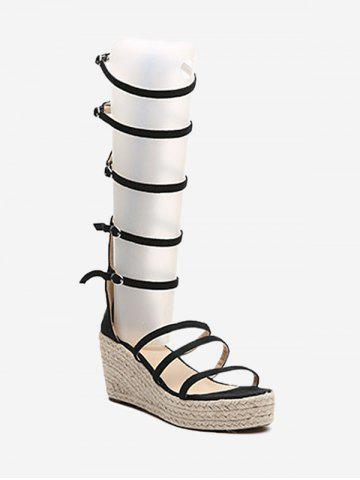 Store Multi Straps Casual Wedge Espadrille Sandals