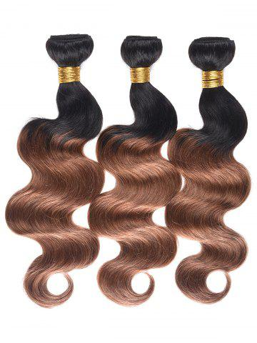 Discount Human Hair Colormix Body Wave Hair Weaves