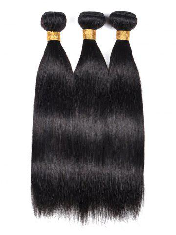 Trendy 3Pcs Straight Indian Real Human Hair Weaves