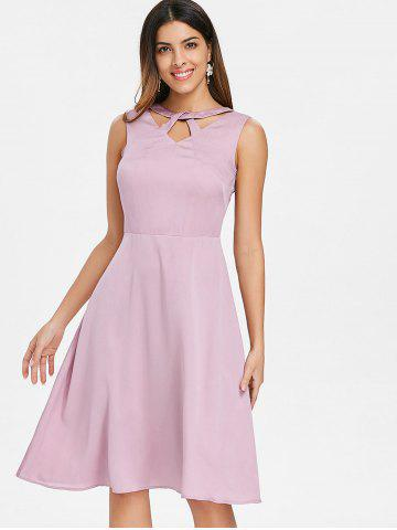 Cut Out Neck Vintage Swing Dress
