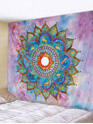 Bohemian Flower Deer Pattern Wall Tapestry -