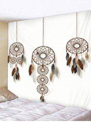 Dream Catcher Feather Print Wall Tapestry Hanging Decor -