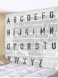 Letter Brick Wall Print Wall Tapestry -