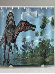 Dinosaur Forest Print Bathroom Shower Curtain -