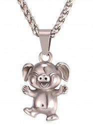Little Pig Alloy Pendant Chain Necklace -
