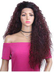 Long Free Part Fluffy Kinky Curly Synthetic Lace Front Wig -