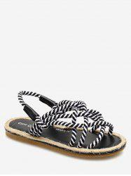 Espadrille Crisscross Ropes Beach Slingback Sandals -