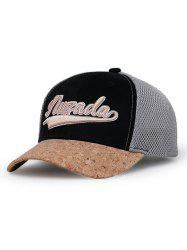 Letter Embroidery Mesh Sunscreen Hat -