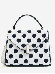 Flapped Envelope Polka Dot Chic Handbag -
