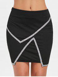 High Rise Sequins Mini Skirt -