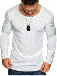 Slim Fit Solid Color Tee Shirt -