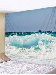 Wall Hanging Art Rough Sea Print Tapestry -