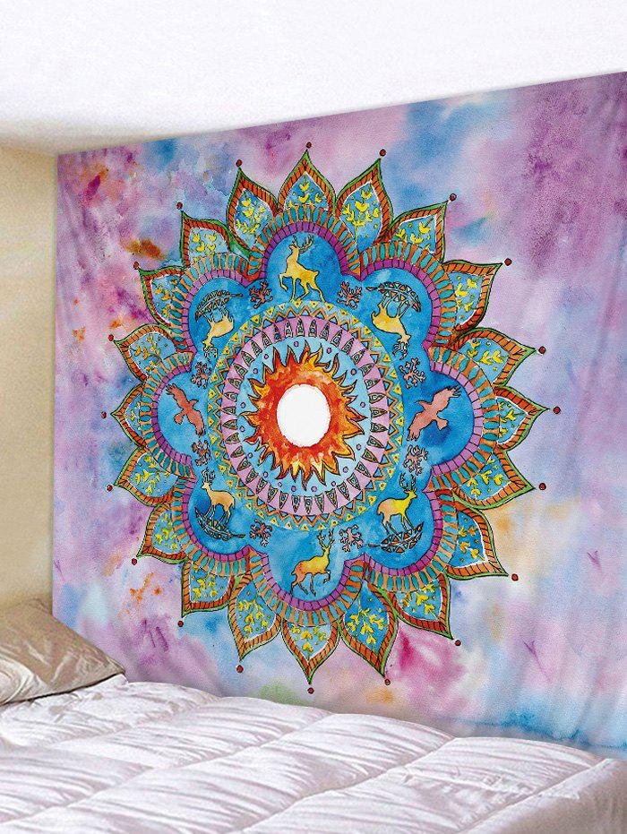Affordable Bohemian Flower Deer Pattern Wall Tapestry