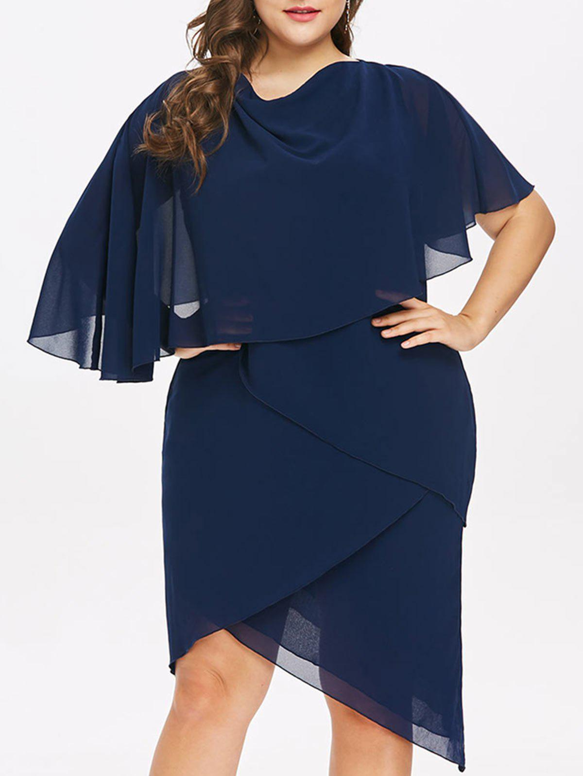 Shops Plus Size Asymmetric Layered Overlap Dress