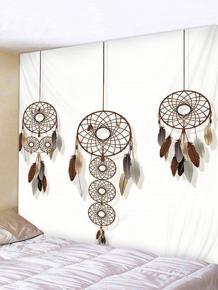 Store Dream Catcher Feather Print Wall Tapestry Hanging Decor