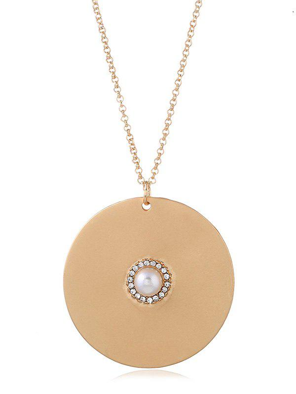 Chic Circle Disc Chain Necklace