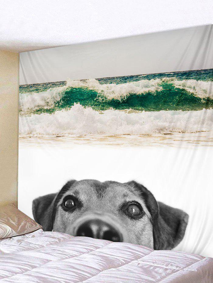 Trendy Wall Hanging Art Beach Dog Print Tapestry