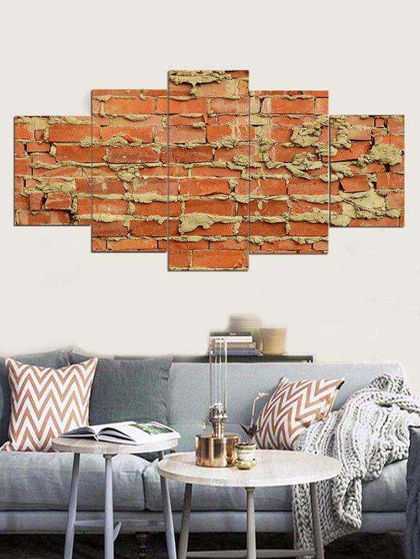 Affordable Brick Wall Print Unframed Split Canvas Paintings