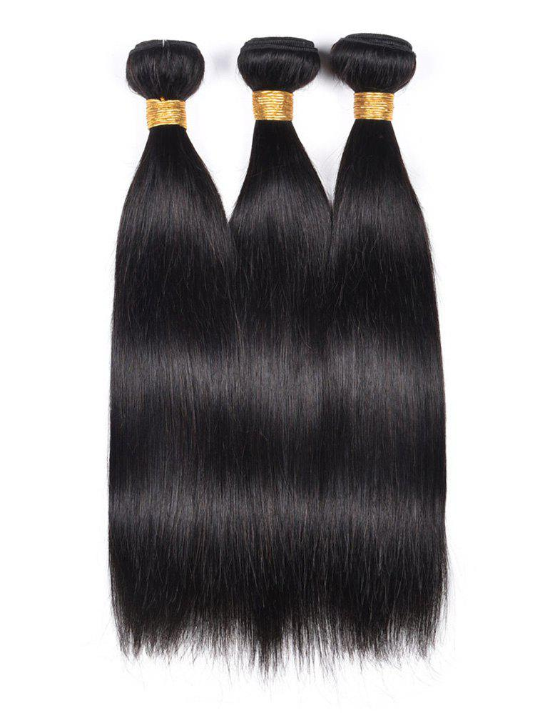 Affordable 3Pcs Straight Indian Virgin Human Hair Weaves