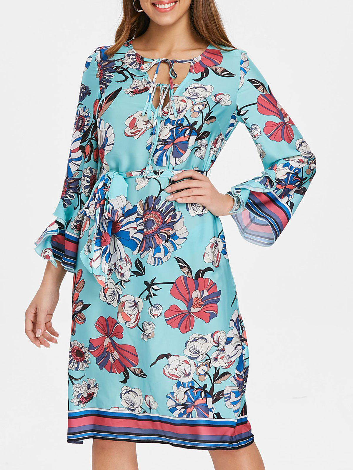 Outfits Bohemian V Neck Floral Shift Dress