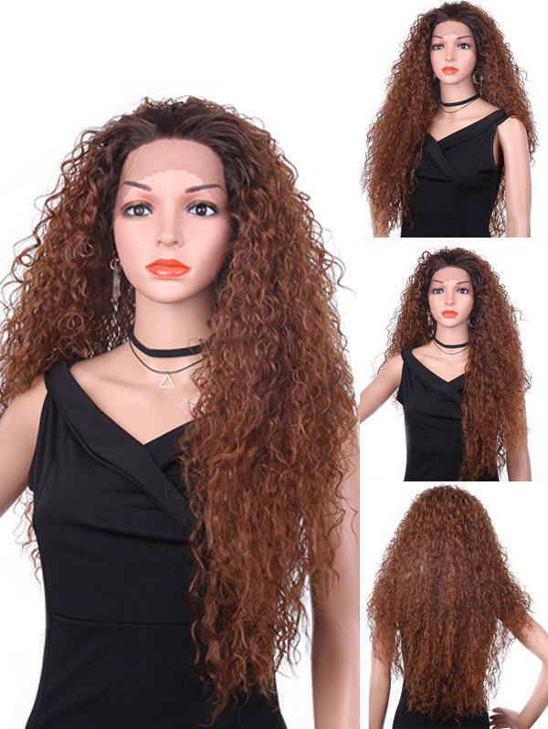 Hot Long Free Part Fluffy Kinky Curly Synthetic Lace Front Wig