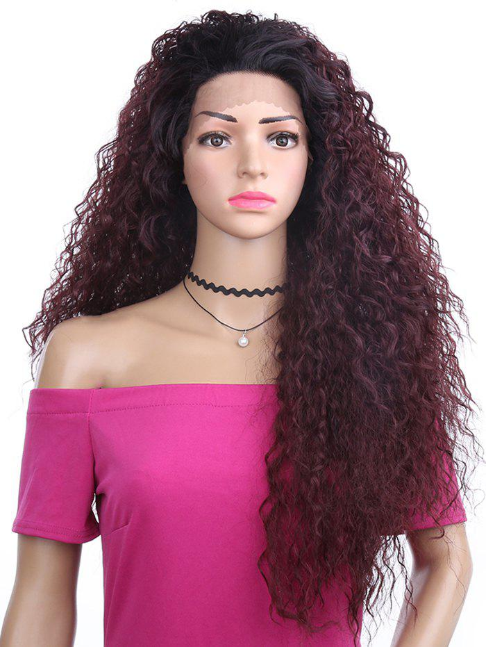 New Long Free Part Fluffy Kinky Curly Synthetic Lace Front Wig
