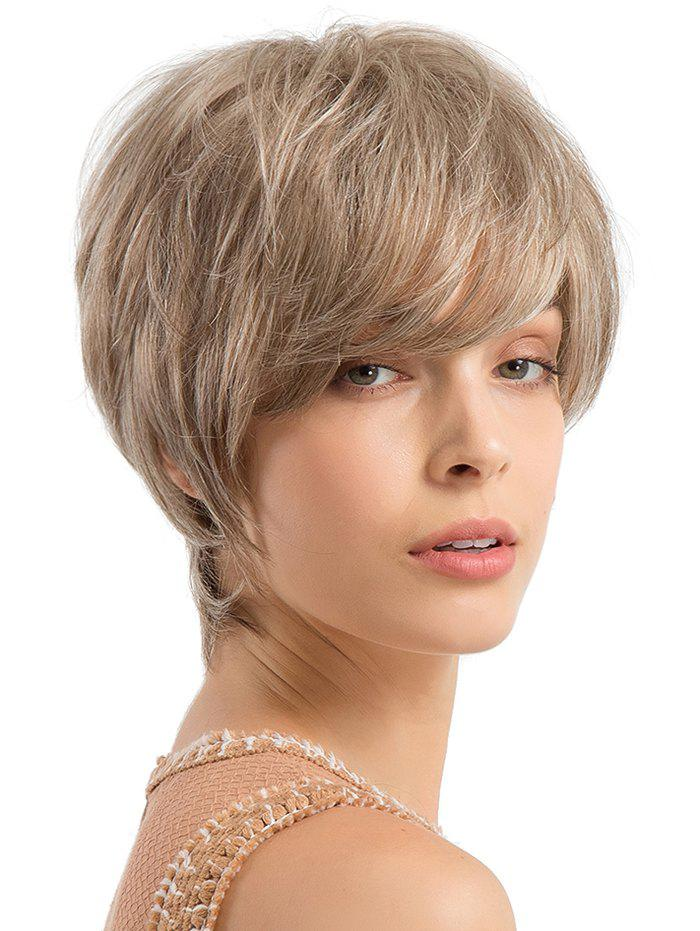 Best Short Side Bang Straight Human Hair Wig