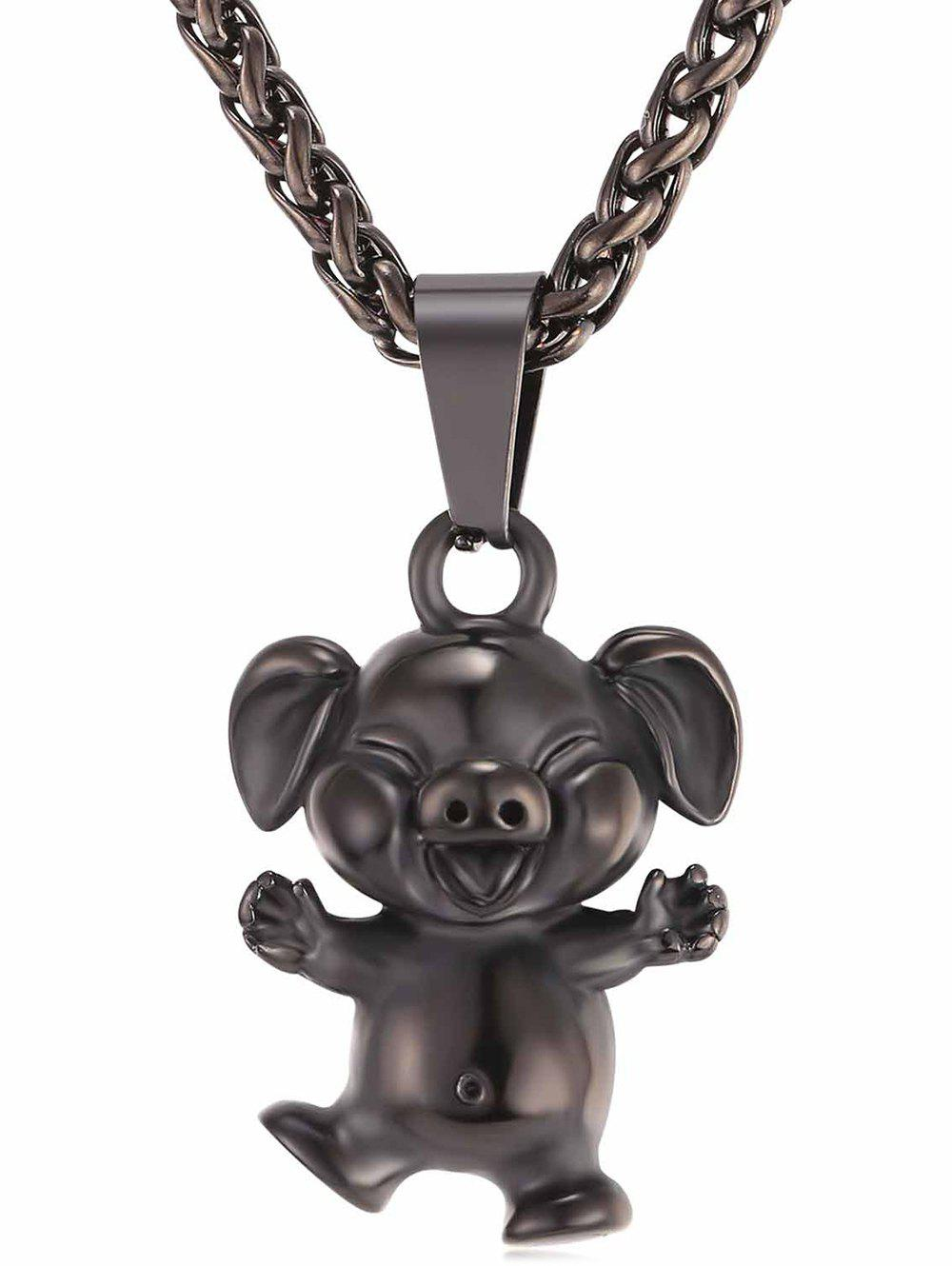 New Little Pig Alloy Pendant Chain Necklace
