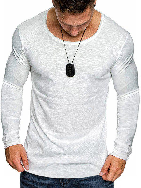 Latest Slim Fit Solid Color Tee Shirt