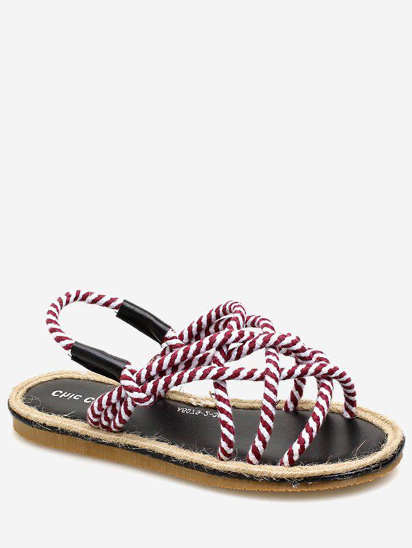 Affordable Espadrille Crisscross Ropes Beach Slingback Sandals