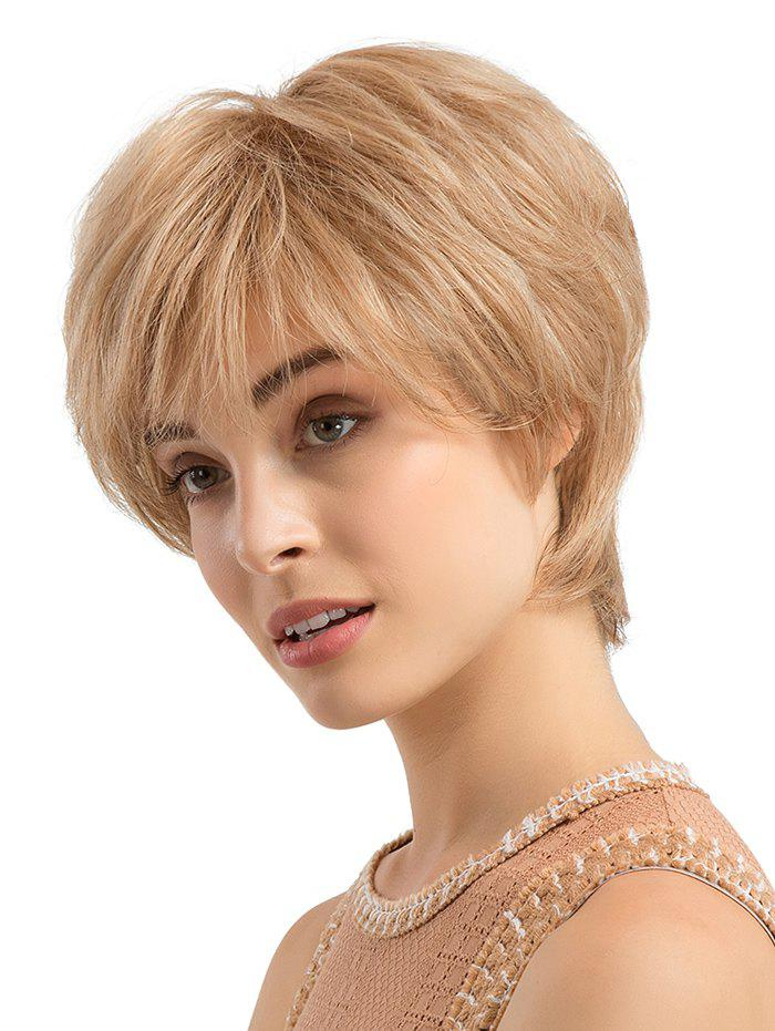 Discount Short Side Fringe Straight Human Hair Wig