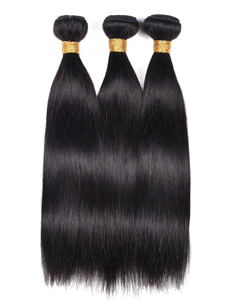 Cheap 3Pcs Straight Indian Real Human Hair Weaves