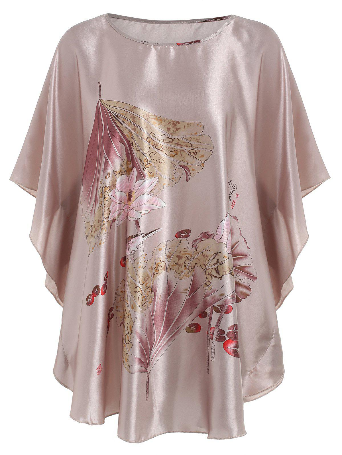 New Butterfly Sleeve Floral  Pajamas Dress